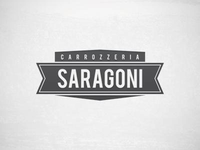 Carrozzeria Saragoni | Logo logo retro gray black