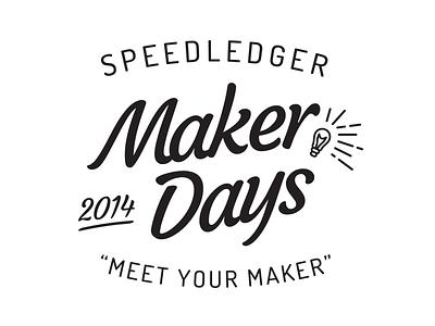 Maker Days speedledger logo symbol typography