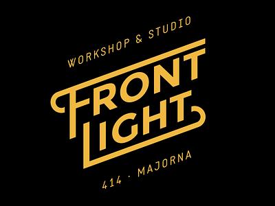 Frontlight frontlight majorna logo workshop typography