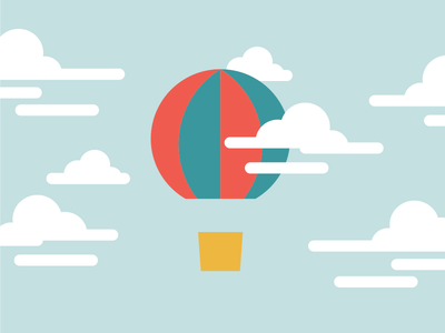 Air Ballon air ballon illustration clouds moln speedledger frosting window