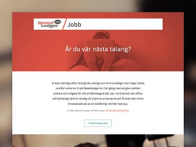 SpeedLedger Career Web jobs webdesign design speedledger web career website responsive gothenburg