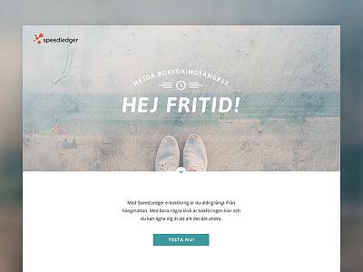 SpeedLedger Landing Page speedledger landing page web big header whitespace webdesign layout website