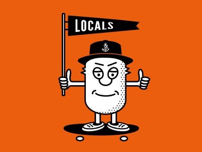 Locals Head illustration locals character doodle logo brand skate skateboard localsapparel graphic