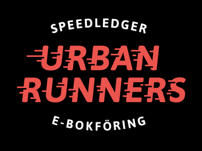 Urban Runners Logo logo urban runners fast speed speedledger tee