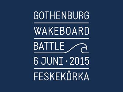 Gothenburg Wakeboard Battle Logo wave vector wakeboard logo
