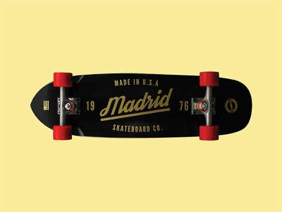 Madrid Midget logo typography graphic madrid skateboard