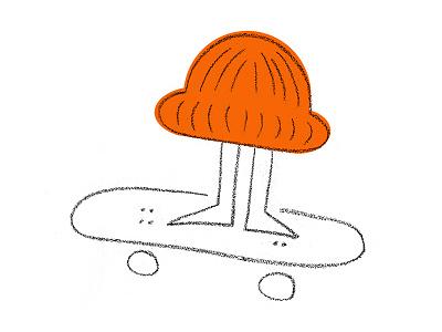 Little Local Doodle skateboard graphic chalk sketch beanie doodle littlelocal