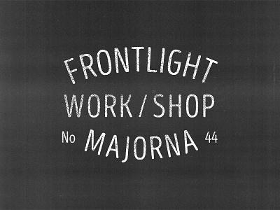 Frontlight Logo typography workshop creativespace logo frontlight