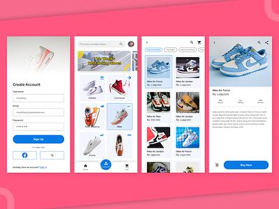 HypeShoes UI Design hype shoes app mobile illustration typography design graphic design ux ui