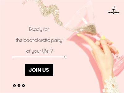 Bachellorete party bachelorette party bachelorette party advertising advertising design ui design ui figma design logo web design webpage website