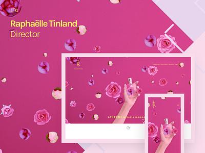 Fabrik x Raphaelle Tinland themes theme template filmmaker director feminine design website portfolio website portfolio design film
