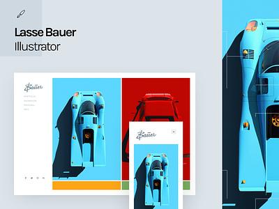 Fabrik x Lasse Bauer automotive automotive design photorealistic photoreal flat illustration 2d art car design vehicles vehicle vehicle graphics car illustration