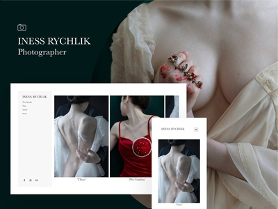 Fabrik x Iness Rychlik woman portrait eroticism feminism website builder template website photograph photographer portrait photography