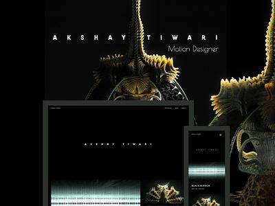 Fabrik x Akshay Tiwari styleframe title sequence aliens futuristic futurism sci-fi alien renders rendering render photo-realistic photo-real portfolio site website builder website portfolio website portfolio 3d