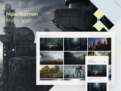 Fabrik x Maxx Burman sci-fi cgi vfx 3d artist 3d art games design portfolio site website builder portfolio website portfolio website matte mattepainting matte painting 3d