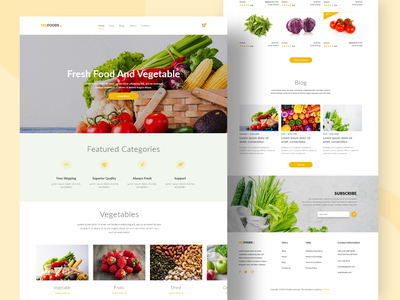 Vegfoods landing page Website UI Design website concept mobile ui design mobile ui website ui website ui design fruits food vegetable uidesign web landingpage website design website branding graphicdesign ux ui design