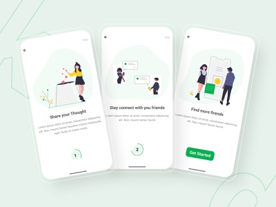 Connect - Social Media App | Onboarding screen onboarding ui onboarding screen socialmedia social app ui design userinterface mobile ui mobile app design minimal appdesign app ux ui design