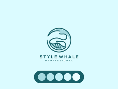 Whale LOGO vector real estate whale animal branding lineart icon symbol logo