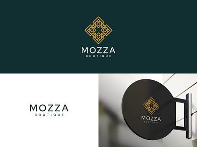 MOZZA BOUTIQUE beautiful beautique luxury design branding lineart icon symbol logo