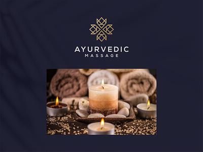 ayurvedic luxury design branding lineart icon symbol logo