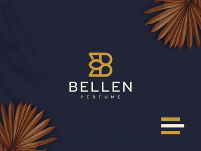 BELLEN PERFUME logodesign brand letterb perfume illustration monogram luxury design branding lineart icon symbol logo
