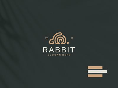 Rabbit Logo monogram illustration rabbit animal vector luxury design branding lineart icon symbol logo