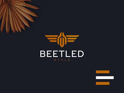 BEETLED STYLE illustration design beetled illustration art animal monogram vector luxury design branding lineart icon symbol logo