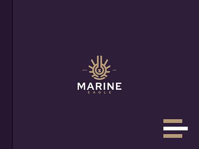 MARINE EAGLE1 marine eagle illustrations animal monogram vector luxury design branding lineart icon symbol logo