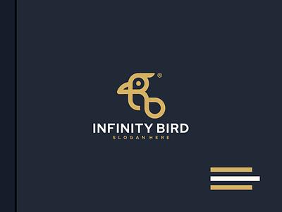 infinity bird bird infinity animal monogram vector luxury design branding lineart icon symbol logo