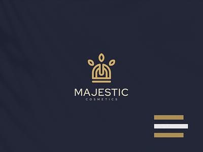 Majestic Logo logotype monogram vector design symbol beauty lineart company branding brand luxury cosmetic emblem logo majestic