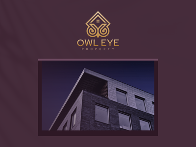 Owl Eye Logo owl logo property owl illustration animal vector luxury design icon branding lineart symbol logo