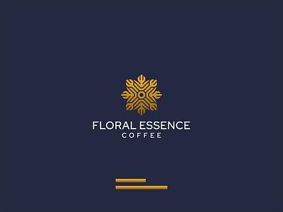 FLORAL ESSENCE 1 flower jewelry coffee typography illustration vector luxury design icon branding lineart symbol logo