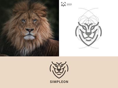Simpleon Logo vintage emblem animal graphic design company brand vector illustration design icon branding lineart symbol logo