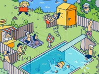 Summer sounds: Swimming pool