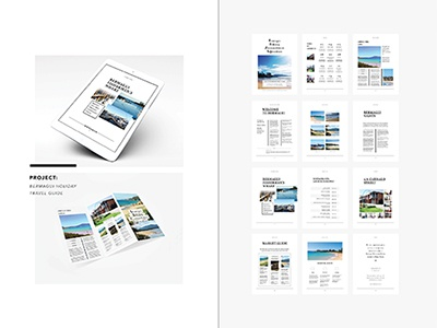 Bermagui Holiday Travel Magazine photography trifold magazine travel layout design print ipad publishing digital