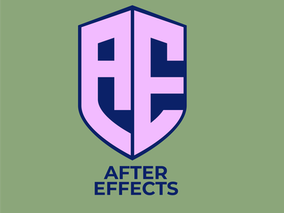 AFTER  EFFECTS  , Modern monogram  logo design motion graphic vector illustration typography monogram logo graphic design branding logo