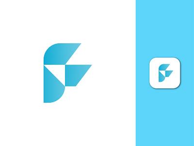 F Letter Modern Logo Design concept logo presentation creative simple elegant logo minimal logo website sketch identity a b c d e f g h i j k l m n logotype abstract gradient vector mark symbol illustraion logo design blue flat icon app branding
