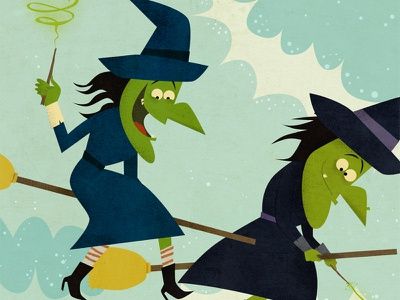 Witches witch halloween broom