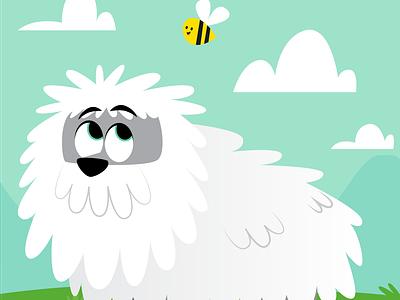 Park Dog 2 bee dog kids illustration