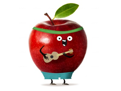 Apple Man fruit guitar apple