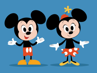 Mickey & Minnie Mouse icon character disneyland disney mouse minnie mickey illustration