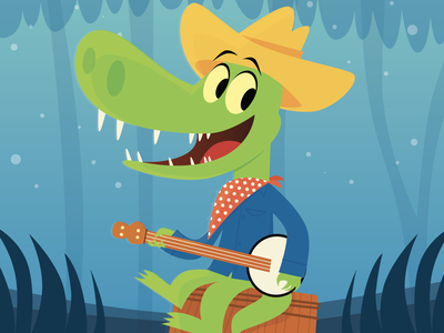 How do you do? - Splash Mountain drawing illustration banjo gator alligator splash mountain disney disneyland