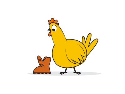 Hey Chicky! illustration chicken