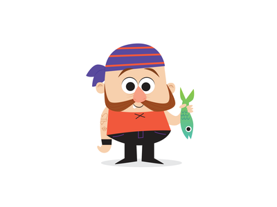 Pirate Fish Guy illustration
