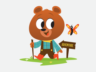 Adventure Bear kids illustration bear