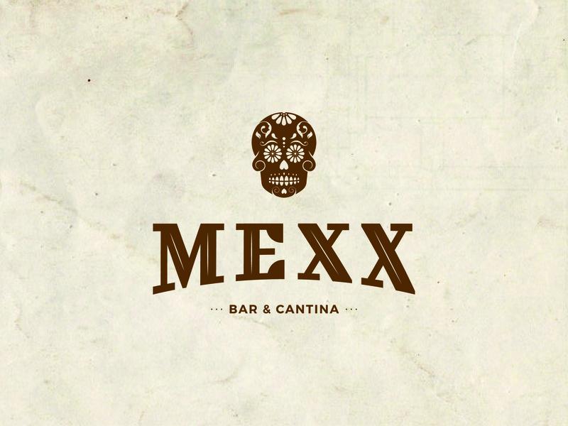 Mexx Logo design skull logo food logo restaraunt food mexican illustrator minimal icon logo design branding