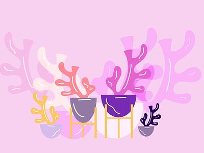 plants color style flat design illustration colourful illustraion colors illustrator design flat art