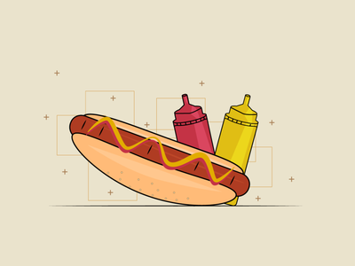 hotdog fast food food souce hotdog illustrator illustration design flat design flat art