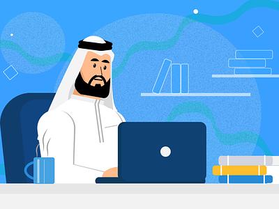 Arab Saudi business man arabic saudi arabia business man man business illustraion flat art illustration character illustration illustrator flat design design flat art
