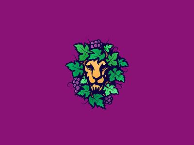wine lion drink africa animal lion grape